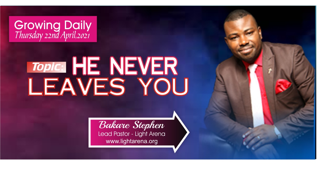 Growing Daily with Apostle Bakare Stephen